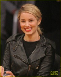 Dianna Agron & Amy Schumer - At the Lakers Game 3/19/14