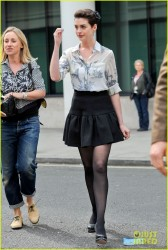 Anne Hathaway - Going to BBC 1 Radio Studios in London 3/26/14