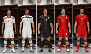 Download PES 2014 Iran WorldCup 2014 Kit Set by Astracell