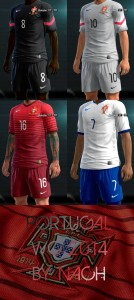 Download PES 2013 Portugal WC2014 GDB Kits by Nach