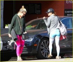 Vanessa Hudgens at a Yoga Class in Studio City on March 31, 2014