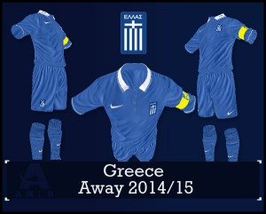 FIFA 14 Greece Away Kit 2014/15 by amin2244