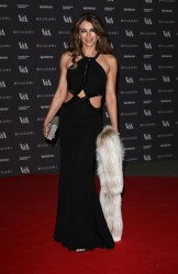Elizabeth Hurley - The Glamour of Italian Fashion exhibition in London 4/1/14