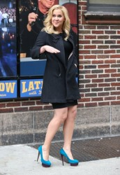 Amy Schumer - Arriving to the 'Late Show with David Letterman' in NYC 4/1/14