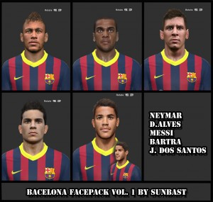 Download PES 2014 Bacelona Facepack vol.1 by sunbast