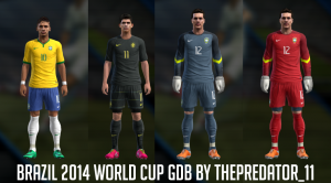 Download PES 2013 Brazil 2014 World Cup GDB by ThePredator_11