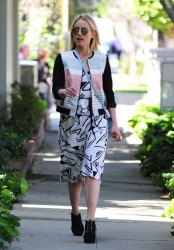 Dianna Agron - Out in West Hollywood 4/3/14