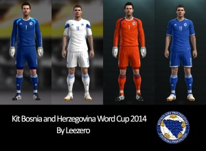 Download PES 2013 Bosnia and Herzegovina WC2014 Kits by Leezero