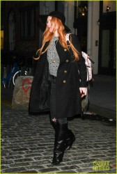 Lindsay Lohan - Leaving her apartment in NYC 4/9/14