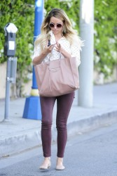 Lauren Conrad - Leaving Kate Somerville in West Hollywood 4/15/14