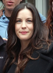 Liv Tyler  Mario Batali on the set of The High Road at the Square Diner in NYC April 11,