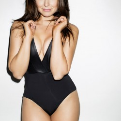 Katie Lowes floor swimsuit esquire