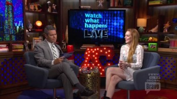LINDSAY LOHAN - LEGGY - Watch What Happens Live 04,17,14