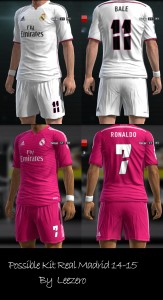 Download PES 2013 Possible Kit Real Madrid 14-15 by Leezero
