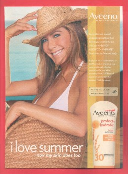 "Jennifer Aniston: 2013 ""Aveeno"" Magazine Print Ad - HQ x 1"