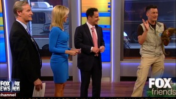 AINSLEY EARHARDT inviting BOOBs GROPED by sleazy sloth