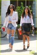 Kim & Kourtney Kardashian - Going to Starbucks in Calabasas 4/21/14