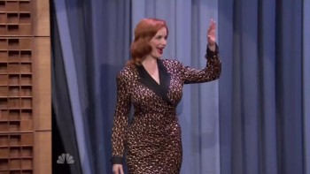 CHRISTINA HENDRICKS - THE TONIGHT SHOW 04,21,14