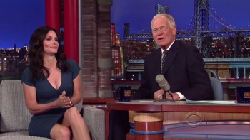 COURTENEY COX - HOT - The Late Show 04,21,14