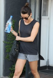 Lea Michele - Leaving Kate Somerville in West Hollywood 4/22/14