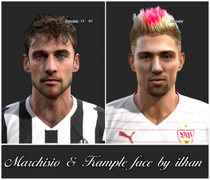 Download PES 2013 Marchisio & Kample Face by ilhan