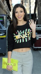 Victoria Justice at Upront Event in New York City on April 24, 2014