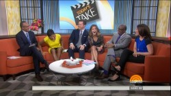 TAMRON HALL upskirt - today show - April 25, 2014