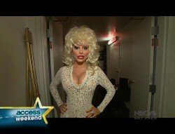 MARIA MENOUNOS as Dolly Parton - Access Hollywood - July 5, 2010