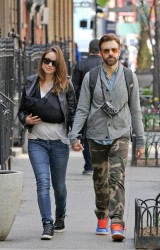 Olivia Wilde steps out for the first time with her son, Otis in New York City, on April 28, 2014