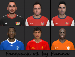 Download PES 2014 Facepack V1 by Panna