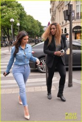 Kim Kardashian & Serena Williams - Hanging out in Paris 4/30/14