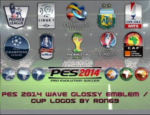 Download PES 2014 Wave Glossy Emblem / Cup Logopack by Ron69