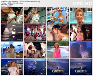 Kathie Lee Gifford  Promo VHS  more rare Carnival  comercials . with  outfits. swimsuits