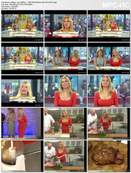 Kathie Lee Gifford Boobs in Red  Today  4th hour 4 -20- 2012
