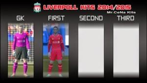 PES2014 Liverpool Kits 2014-2015 by Mr.Cena