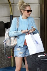 Ashley Tisdale - Leaving her hotel in NYC 5/15/14