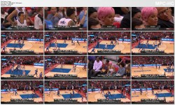 Rihanna BRALESS sheer - Thunder vs Clippers (Game 6) - 5.15.14