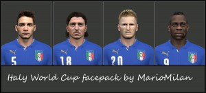 Italy wc facepack for pes 14 by MarioMilan