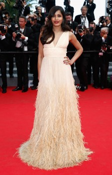 Freida Pinto - ''Saint Laurent'' premiere during the 67th Annual Cannes Film Festival 05/17/2014