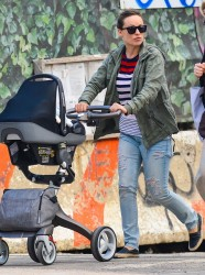 Olivia Wilde - Taking her son for a walk in NYC 5/19/14