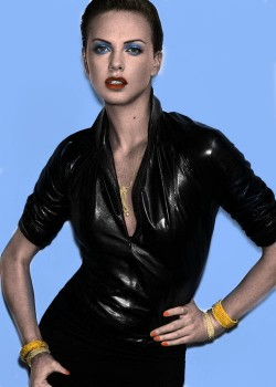 Charlize Theron - B/W Picture - Colored by me
