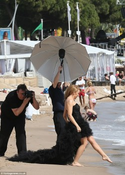 Kylie Minogue -  Beach Photo Shoot in Cannes