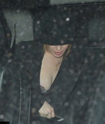 Lindsay Lohan at Chiltern Firehouse in London on May 29, 2014