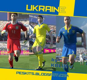 Download PES 2014 Ukraine 14-15 GDB Kits by Kolia V