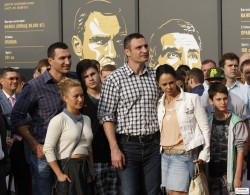 Hayden Panettiere at the Opening of the Klitschko Brothers Exhibition in Kiev, Ukraine on June 1, 2014