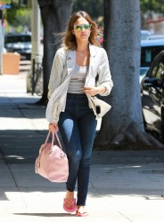 Jessica Alba - Leaving a nail salon in Brentwood 6/4/14