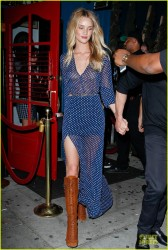 Rosie Huntington-Whiteley - Leaving Hooray Henry's in West Hollywood 6/8/14