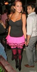 Danielle Lloyd flashes butt @ Embassy Night Club 8/23/08