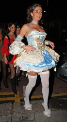 Danielle Lloyd dressed as slutty Cinderella @ Faces Nightclub for her 25th birthday party  12/15/08