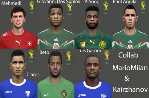 PES 2014 Facepack World Cup Vol9 by miguelrioave
